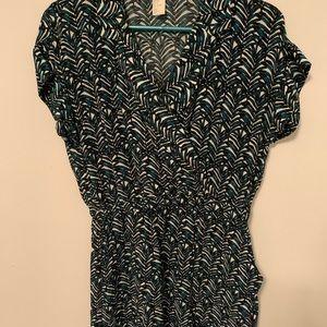 Tropical print H&M dress